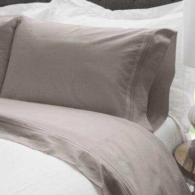300 Thread Count Egyptian Quality Cotton Embroidered Sheet Set Size: Full, Color: Taupe