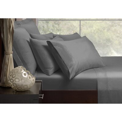 Sheet Set Size: King, Color: Charcoal