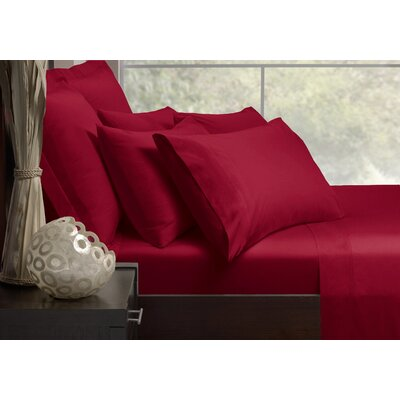 Sheet Set Size: Queen, Color: Red