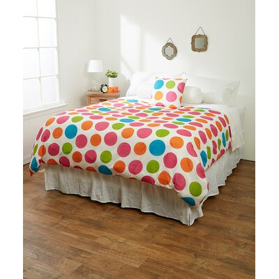 Multi-Dots Duvet Cover Size: Twin