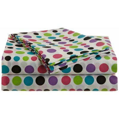 Multi-Dots 200 Thread Count Sheet Set Size: Queen