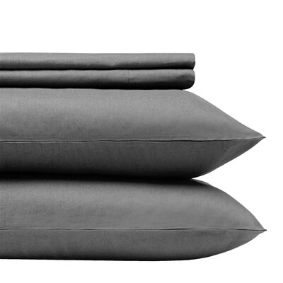 1000 Thread Count 100% Egyptian Quality Cotton Solid Sheet Set Size: Queen, Color: Grey