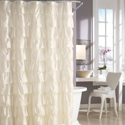 Picture Of Steve Madden Ruffles Shower Curtain In Ivory In Large Size