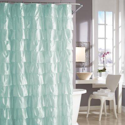 Buy Low Price Steve Madden Ruffles Shower Curtain in Pale Aqua ...