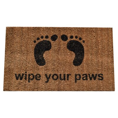 Molded Wipe Your Feet Doormat Rug Size: 30 x 18