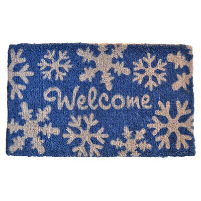 Creel Welcome Snow Flakes Doormat Mat Size: Rectangle 30 x 18