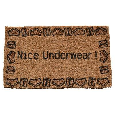 Creel Nice Underwear Doormat Rug Size: 30 x 18