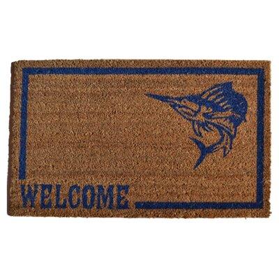 Molded Swordfish Doormat Rug Size: 30 x 18