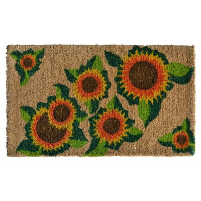 Creel Happy Sunflower Doormat Rug Size: Rectangle 30 x 18