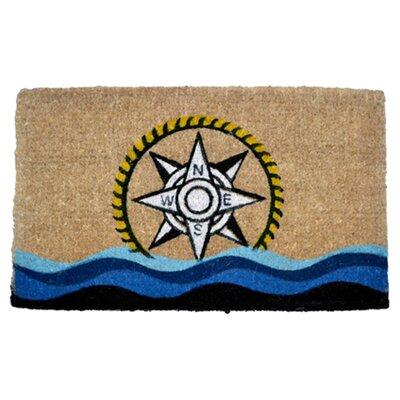 Creel Compass Doormat Rug Size: 30 x 18