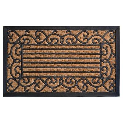 Molded Vine Border Doormat Rug Size: 30 x 18