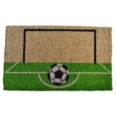 Creel Soccer Field Doormat Rug Size: 30 x 18