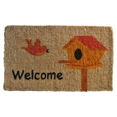 Creel Birdhouse Doormat Rug Size: Rectangle 30 x 18