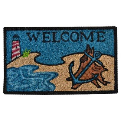 Creel Beach Lighthouse Doormat Rug Size: 30 x 18