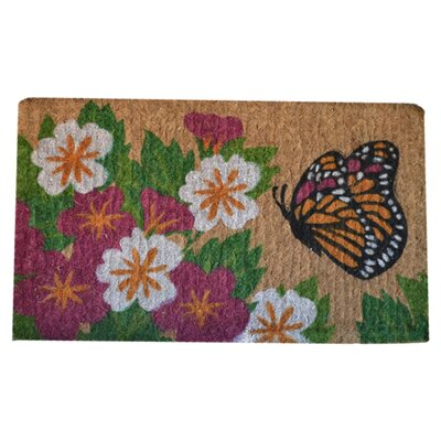 Woven Butterfly Garden Doormat Mat Size: Rectangle 30 x 18