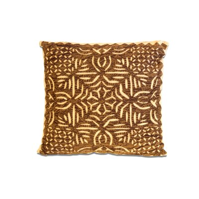 Cotton Throw Pillow Color: Brown