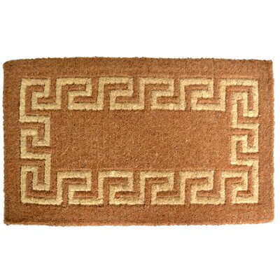 Woven Greek Key Doormat Size: 18 x 30