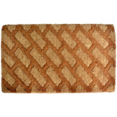 Woven Diagonal Bricks Doormat Mat Size: Rectangle 18 x 47