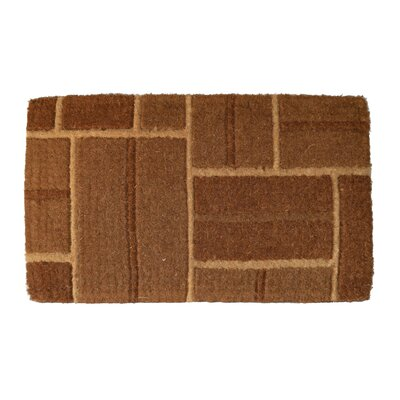 Woven Brick Doormat Mat Size: Rectangle 18 x 47