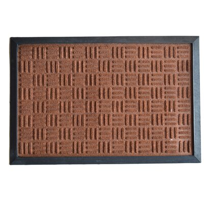 Molded Doormat Mat Size: Rectangle 16 x 24