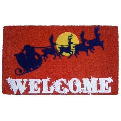 Santa's Sleigh Doormat