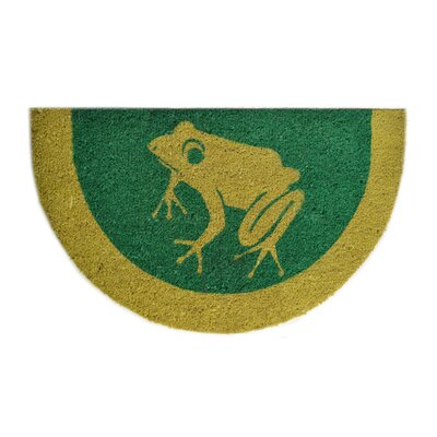 Tufted Frog Doormat Mat Size: Semi-Circle 18 x 30