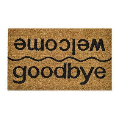 Broadhead Welcome / Goodbye Doormat Mat Size: Rectangle 18 x 30