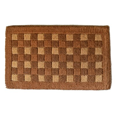 Woven Check Doormat Mat Size: Rectangle 18 x 30