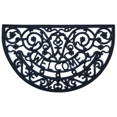 Molded Rose Mary Welcome Doormat Mat Size: Semi-Circle 18 x 30