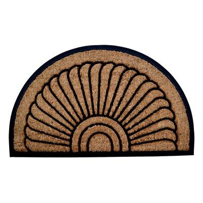 Molded Sunrise Half Round Doormat Size: 24 x 36
