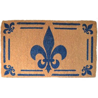 Woven Fleur-de-lis Doormat Mat Size: Rectangle 48 x 30