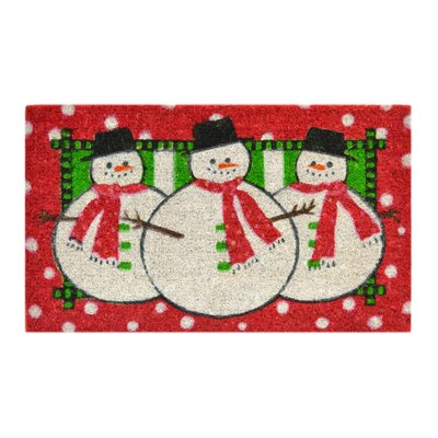 Creel Three Snow Men Doormat Size: Rectangle 18 x 30