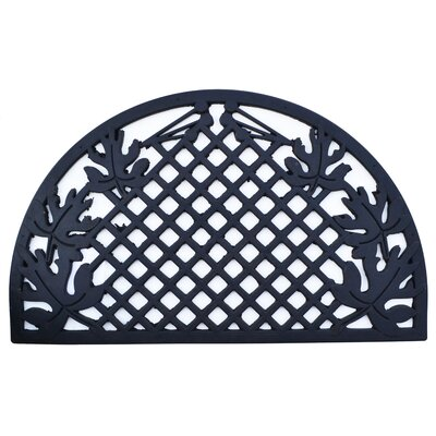 Molded Grid Leaves Doormat Mat Size: Semi-Circle 18 x 30