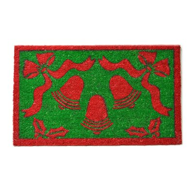 Tufted Christmas Bells Doormat Mat Size: Rectangle 18 x 30