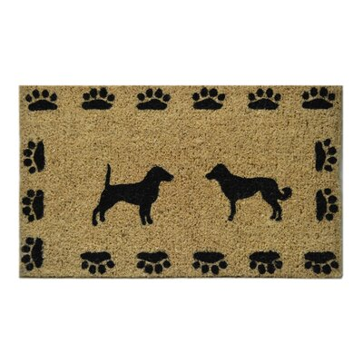 Creel Dog with Paws Doormat Size: Rectangle 18 x 30