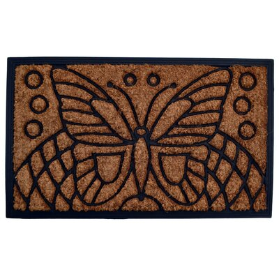 Molded Butterfly Doormat Size: 18 x 30