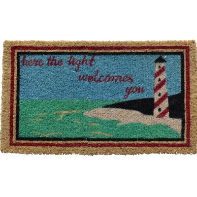 Creel Light House Doormat Mat Size: Rectangle 18 x 30