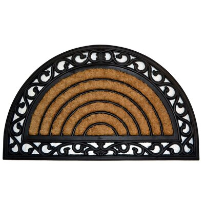 Molded Grill Half Round Doormat Mat Size: Semi-Circle 18 x 30