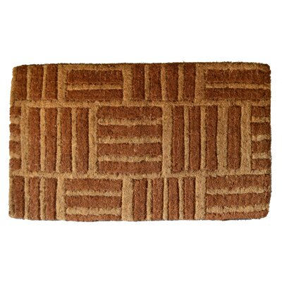Woven Light Criss Cross Doormat Size: 18 x 30