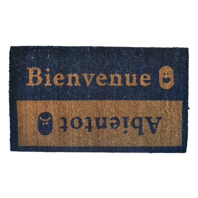 Molded Beinvenue-Abientot Doormat Mat Size: Rectangle 30 x 18