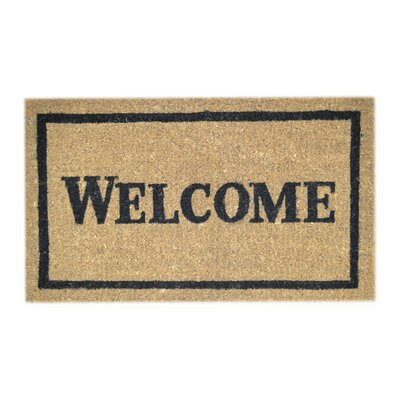 Creel Welcome Doormat Mat Size: Rectangle 18 x 30