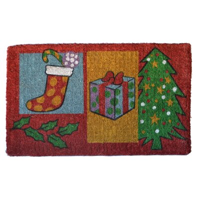Woven Christmas Gift Doormat Mat Size: Rectangle 30 x 18