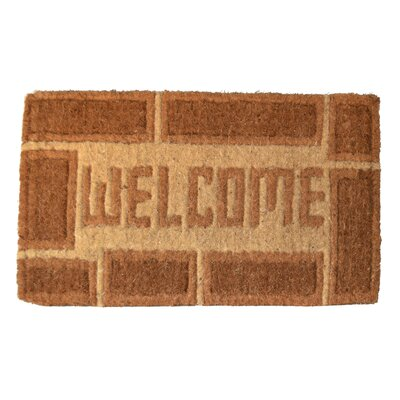 Woven Welcome Doormat Size: Rectangle 18 x 30