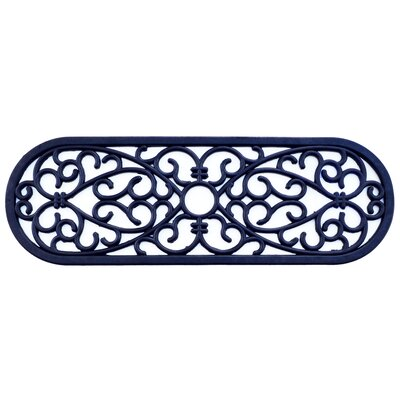 Molded Elliptical Curl Doormat Mat Size: Oval 10 x 30