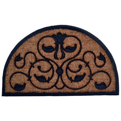 Molded Brigoder Half Round Doormat Size: 30 x 48