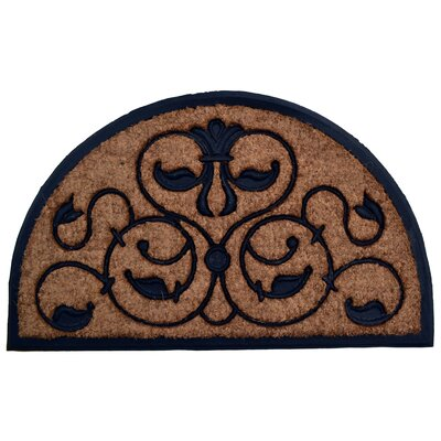 Molded Brigoder Half Round Doormat Mat Size: Semi-Circle 18 x 30
