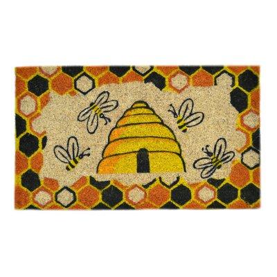 Creel Beehive Doormat Mat Size: Rectangle 18 x 30