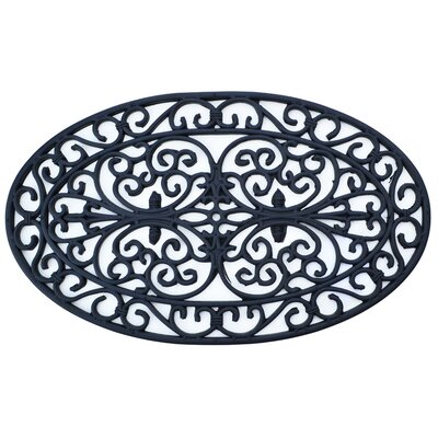 Molded Oval Doormat Mat Size: Oval 16 x 26