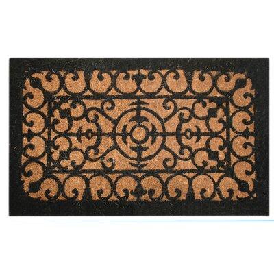 Woven Fleur-de-lis Doormat Size: Rectangle 18 x 30