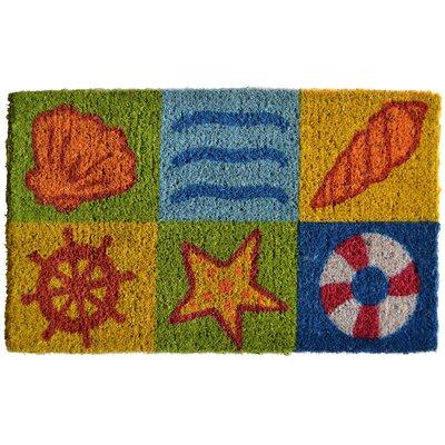 Creel Ocean Life Doormat Mat Size: Rectangle 30 x 18